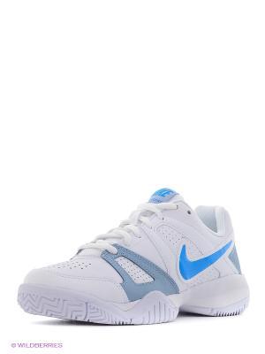 Кроссовки CITY COURT 7 (GS) Nike. Цвет: белый, голубой