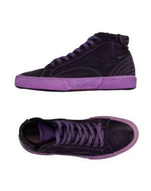 Высокие кеды и кроссовки PANTOFOLA D'ORO. Цвет: темно-фиолетовый