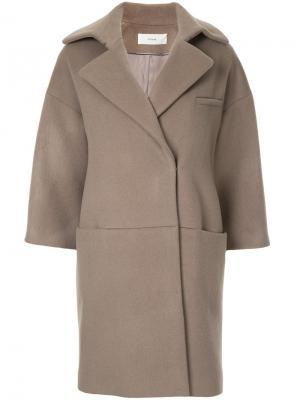 Свободное пальто The Secretcloset. Цвет: коричневый