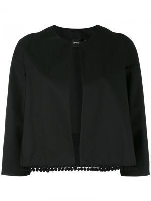 Укороченный пиджак Aspesi. Цвет: чёрный