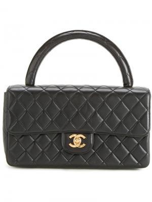 Стеганая сумка с логотипом CC Chanel Vintage. Цвет: чёрный