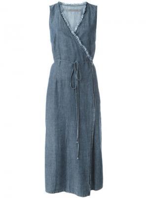 Платье с запахом Raquel Allegra. Цвет: синий