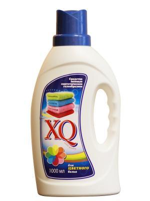 Средство моющее синтетическое гелеобразное для цветного белья, 1 л XQ. Цвет: прозрачный