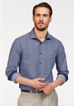 Рубашка Class International. Цвет: серый/темно-синий