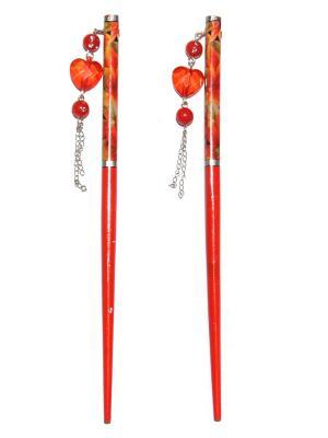 Китайские палочки для волос Lola. Цвет: красный, оранжевый