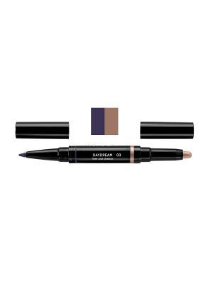 Карандаш и тени для век в наборе DAYDREAM liner and shadow, тон 3 NOUBA. Цвет: индиго, золотистый