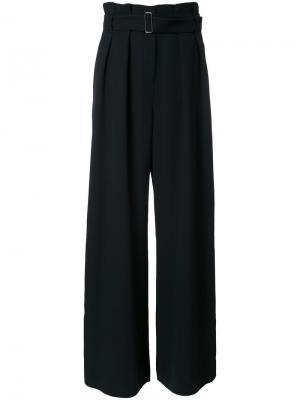 Широкие брюки с поясом Bianca Spender. Цвет: чёрный