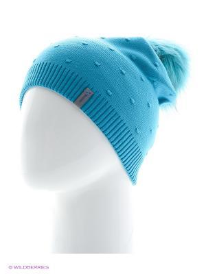 Шишка Беркле шапка женская с помпоном Berkle. Цвет: бирюзовый