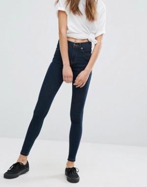 Dr Denim Супероблегающие джинсы с классической талией Lexy. Цвет: синий