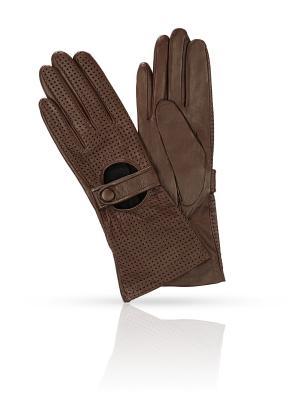 Перчатки MICHEL KATANA`. Цвет: темно-коричневый, бронзовый