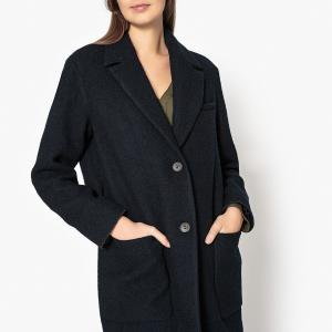 Пальто с застежкой на пуговицы COAT POMANDERE. Цвет: темно-синий