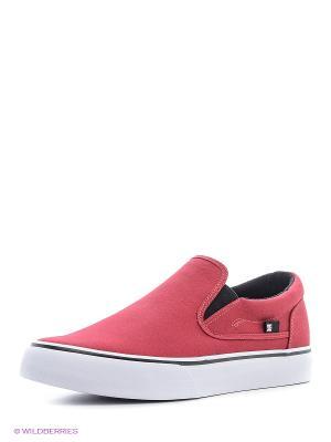 Слипоны DC Shoes. Цвет: бордовый