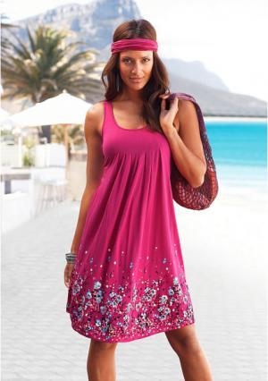 Пляжное платье BEACH TIME. Цвет: серо-коричневый, синий, черный, ягодный