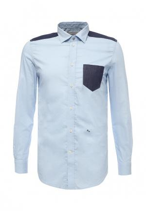 Рубашка Diesel. Цвет: голубой