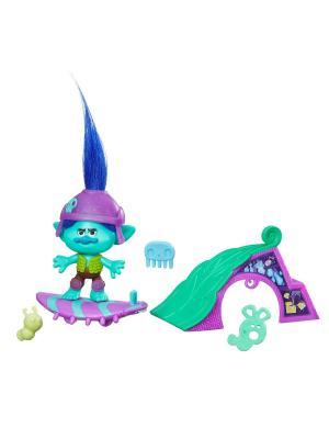 Набор тролли с аксессуарами Hasbro. Цвет: бирюзовый, синий, фиолетовый