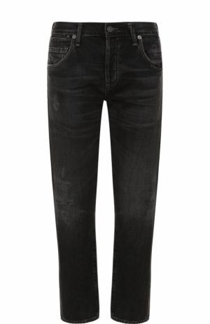 Укороченные джинсы с потертостями Citizens Of Humanity. Цвет: серый