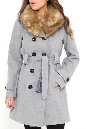 Пальто SHES SECRET SHE'S. Цвет: серый