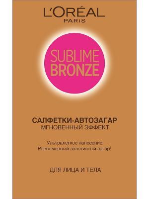 Sublime Bronze Салфетки-автозагар, для лица и тела, 2 х 5,6 мл L'Oreal Paris. Цвет: коричневый