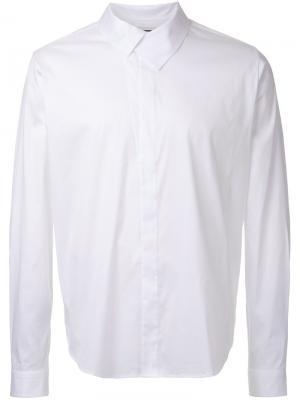 Рубашка  со структурированным воротником Wooyoungmi. Цвет: белый
