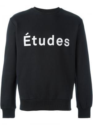 Толстовка с принтом логотипа Études. Цвет: чёрный