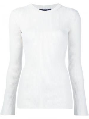 Трикотажная блузка Derek Lam. Цвет: белый