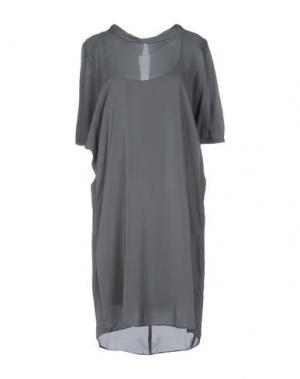 Платье до колена EUROPEAN CULTURE. Цвет: серый