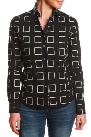 Рубашка GAZOIL. Цвет: black, white