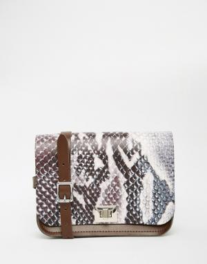 Leather Satchel Company Сумка со змеиным узором Pixie