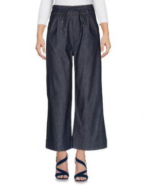 Джинсовые брюки TOMASO. Цвет: синий