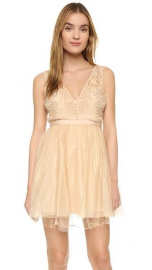 Мини-платье Deja Vu Free People. Цвет: розовое золото