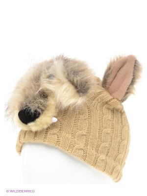 Шапка True Fur. Цвет: светло-бежевый