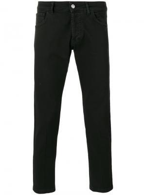 Укороченные джинсы скинни Entre Amis. Цвет: чёрный