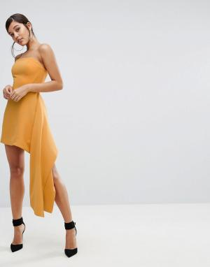 C/meo Collective Платье-бюстье Element. Цвет: желтый