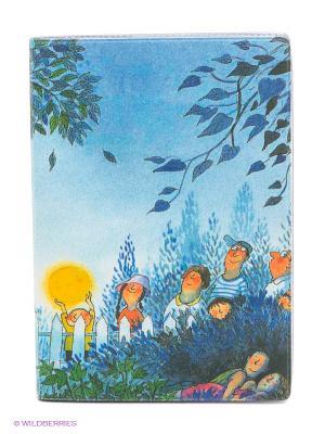 Обложка для автодокументов Под Луной Mitya Veselkov. Цвет: синий