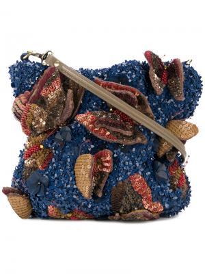 Сумка с пайетками Jamin Puech. Цвет: синий