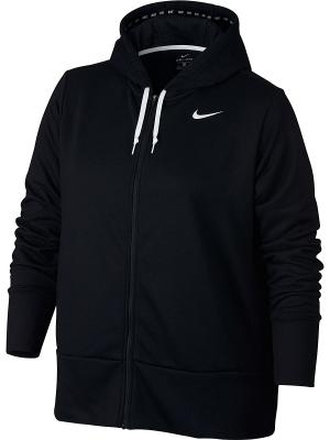 Толстовка W NK DRY HOODIE FZ EXT Nike. Цвет: черный