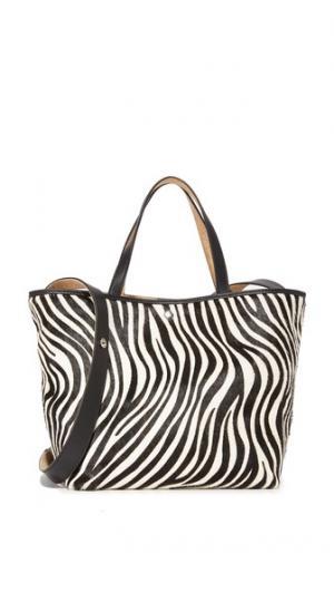 Объемная сумка с короткими ручками Eloise из кожи коротким ворсом Elizabeth and James