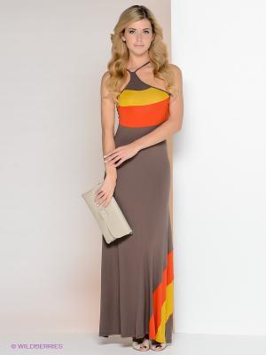Платье МадаМ Т. Цвет: бежевый, красный, горчичный