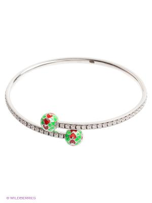Браслет BALEX. Цвет: серебристый, зеленый, красный