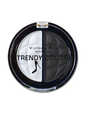 Тени для век TRENDY COLOR, тон 433 Victoria Shu. Цвет: черный, белый