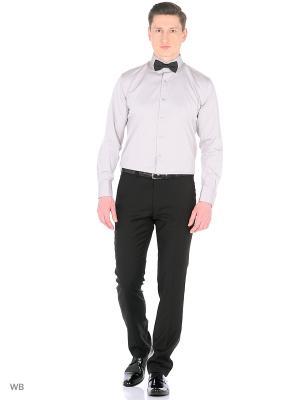 Рубашка мужская манжет под запонки WHITE CUFF. Цвет: серый