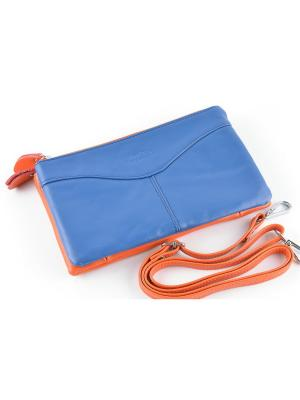 Клатч TOPO FORTUNATO. Цвет: синий, оранжевый
