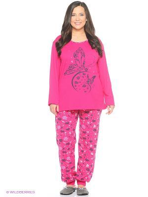 Женская пижама NICOLETTA. Цвет: малиновый