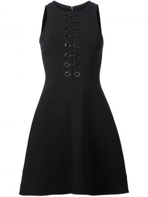 Платье на шнуровке Yigal Azrouel. Цвет: чёрный