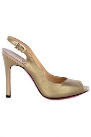 Босоножки на каблуках Luciano Padovan. Цвет: gold