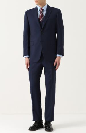 Шерстяной костюм-тройка Lanvin. Цвет: синий