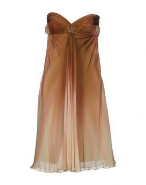 Короткое платье MUSANI COUTURE. Цвет: коричневый