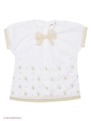 Блузка MANAI. Цвет: белый, бежевый