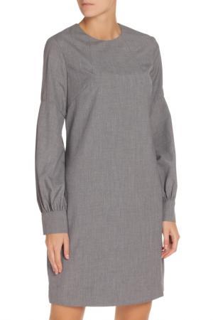 Платье-миди NATALIA PICARIELLO. Цвет: серый