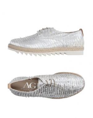 Обувь на шнурках AGL ATTILIO GIUSTI LEOMBRUNI. Цвет: серебристый